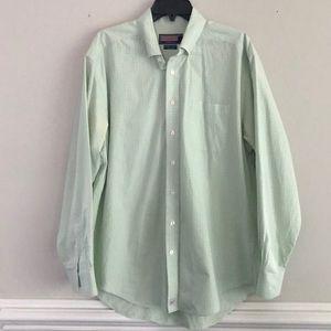 Vineyard Vines green plaid button down shirt